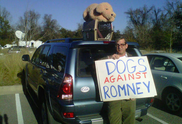 Romney dog roof